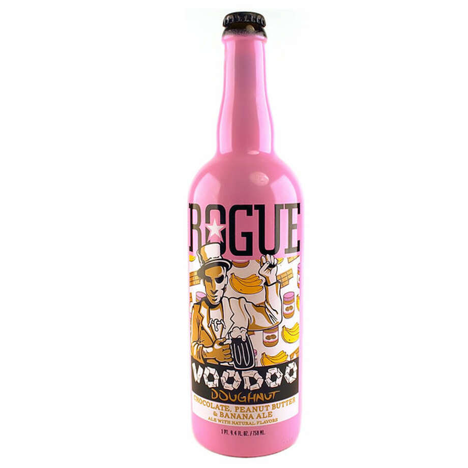 Rogue Voodoo Dougnut Chocolate Peanut Butter Banana beer (U.S.)  What we assume it taste like: The wet bar at Elvis' funeral.