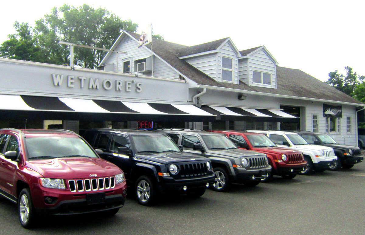 In this file photo, Jeeps are displayed at Wetmore's auto dealership along Danbury Road (Route 7 South) in New Milford.