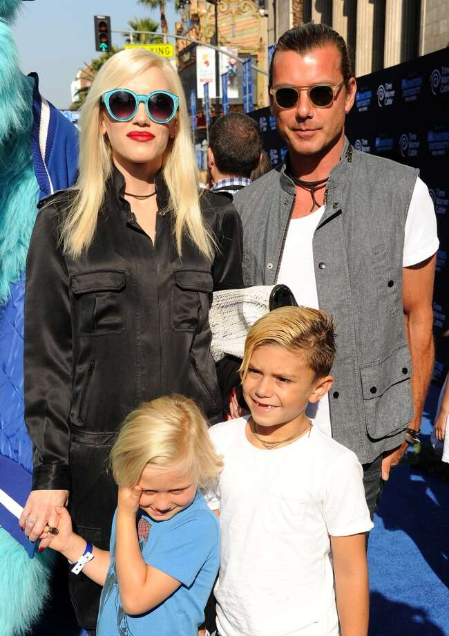"""(L-R) Gwen Stefani, Gavin Rossdale and sons Zuma and Kingston Rossdale attend the world premiere of Disney Pixar's """"Monsters University"""" at the El Capitan Theatre on June 17, 2013 in Hollywood, California.  (Photo by Kevin Winter/Getty Images)"""