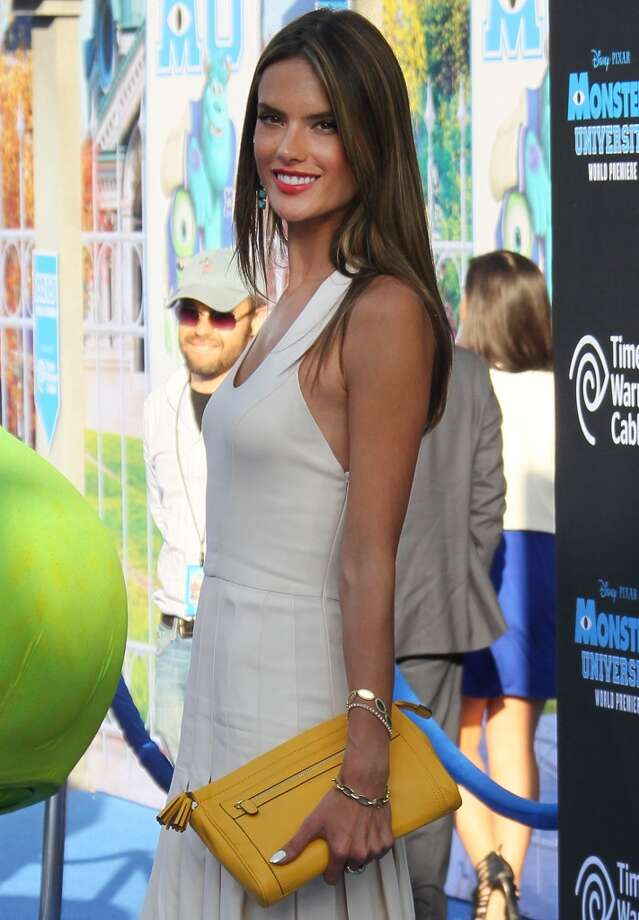 "HOLLYWOOD, CA - JUNE 17:  Model Alessandra Ambrosio attends the premiere of Disney Pixar's ""Monsters University"" at the El Capitan Theatre on June 17, 2013 in Hollywood, California.  (Photo by David Livingston/Getty Images)"