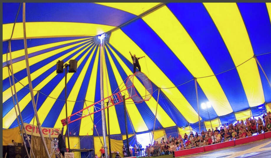 The Zerbini Family Circus will perform under the big tent at Saxe Middle School in New Canaan on June 21 and 22. Photo: Contributed