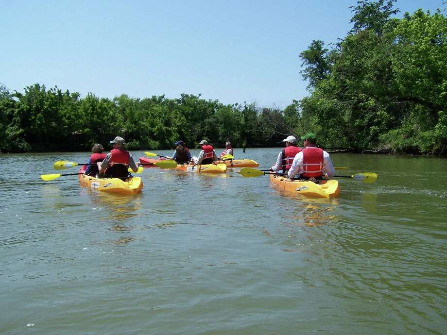 Paddlers at Thomas Bell Foster Park near Interstate 10 East and Normandy, out enjoying nice weather on Greens Bayou.  The Greens Bayou Corridor Coalition is partnering with the National Park Service to create a paddling trail for the waterway. Photo: Courtesy