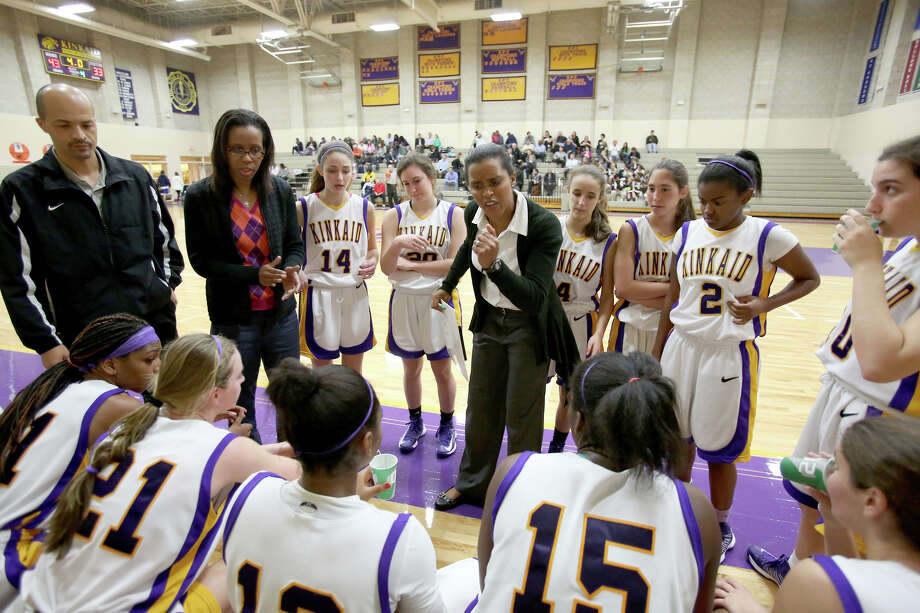 The Kinkaid girls basketball team repeated as Southwest Preparatory Conference champions this season, joining the boys golf team as the only Falcon squads to earn 2012-13 SPC titles. Photo: Thomas B. Shea / © 2012 Thomas B. Shea