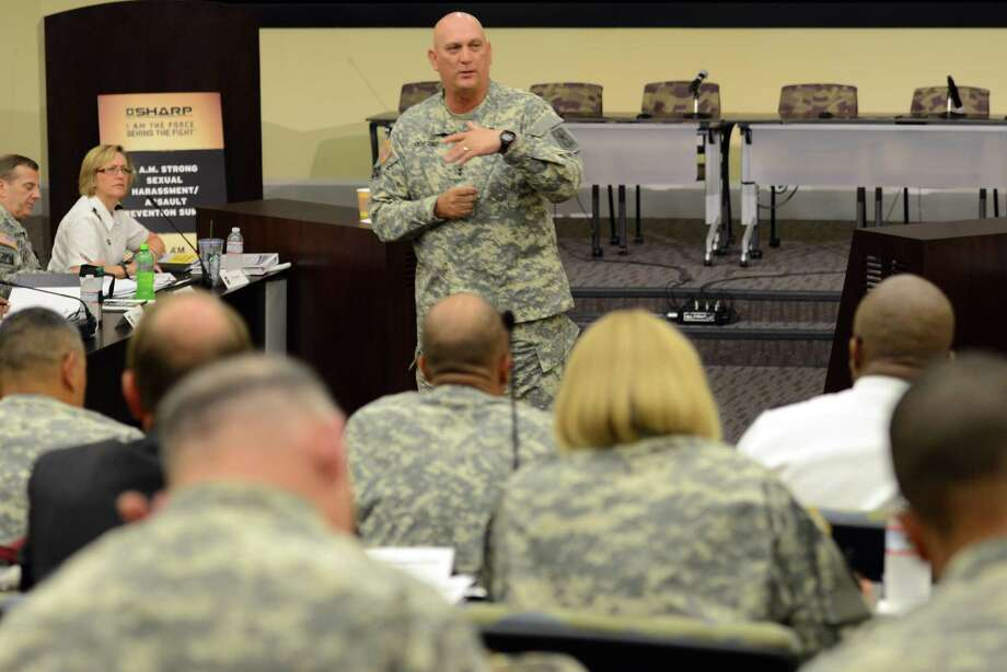 Army Chief of Staff Gen. Ray Odierno addresses general officers and other Army leaders June 10 at a conference on the Army's Sexual Harassment/Assault Response and Prevention program. Photo: U.S. Army