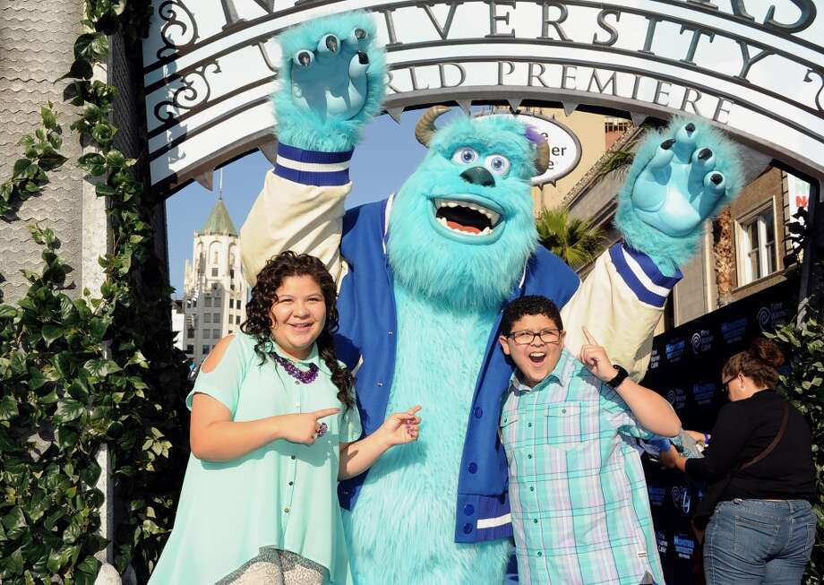 "HOLLYWOOD, CA - JUNE 17:  Actors Raini Rodriguez and Rico Rodriguez attend the world premiere of Disney Pixar's ""Monsters University"" at the El Capitan Theatre on June 17, 2013 in Hollywood, California.  (Photo by Kevin Winter/Getty Images)"