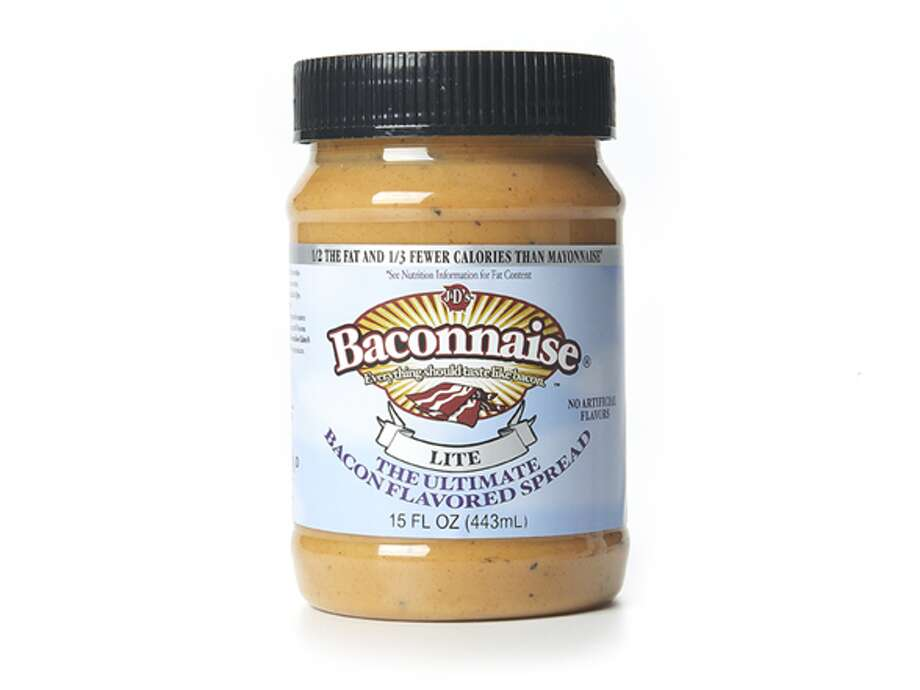 Baconnaise Light bacon-flavored mayo (U.S.)  What we assume it tastes like: Only a minor heart attack.