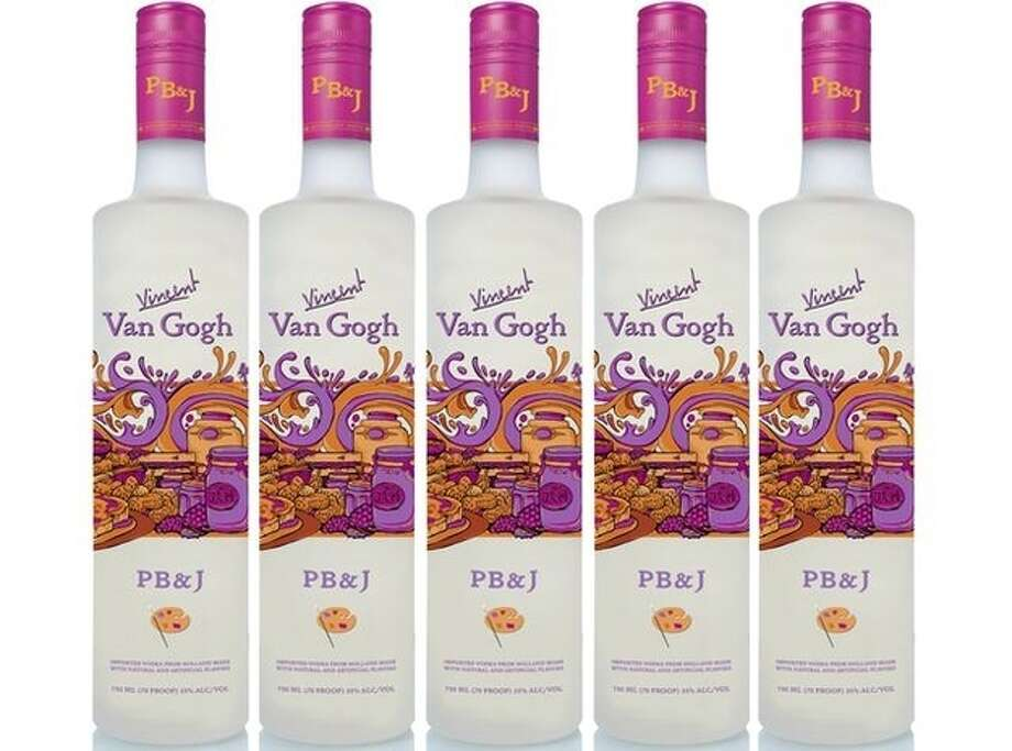 Van Gogh PB&J peanut butter and jelly-flavored vodka (U.S.)  What we assume it tastes like: A daycare rave party.