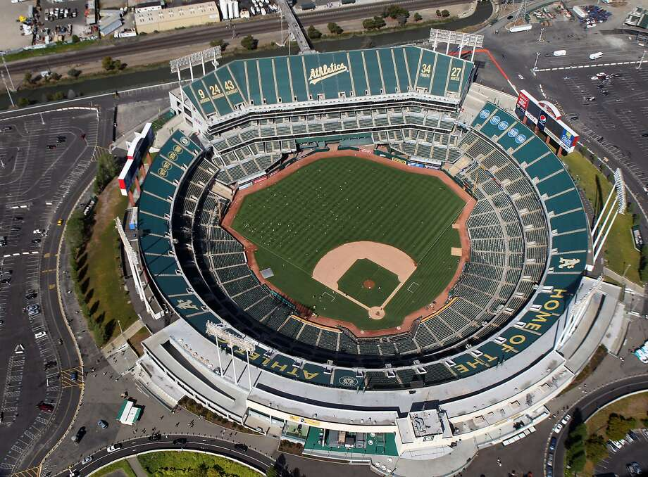 The Oakland-Alameda County Coliseum, in Oakland California is home to the Oakland Athletics, Sunday May 27, 2012. Photo: Lance Iversen, The Chronicle