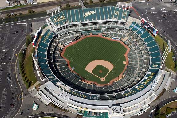 The Oakland-Alameda County Coliseum, in Oakland California is home to the Oakland Athletics, Sunday May 27, 2012.