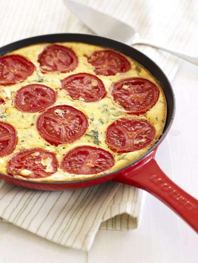 Good Housekeeping recipe for Crustless Tomato-Ricotta Pie. Photo: Tara Donne