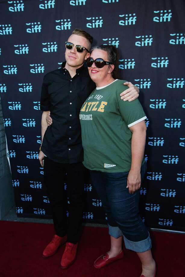 "So, he does own normal clothes, displayed here with Kerri Harrop at the world premiere of ""The Otherside"" at SIFF Cinema Uptown on May 31, 2013 in Seattle. Photo: Mat Hayward, Getty / 2013 Mat Hayward"