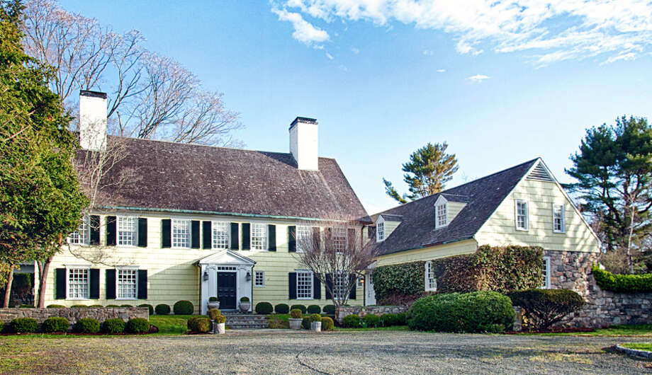 The house at 1040 Hulls Farm Road, once the home of composer Richard Rodgers, is on the market for $7.5 million. Photo: Contributed Photo / Fairfield Citizen
