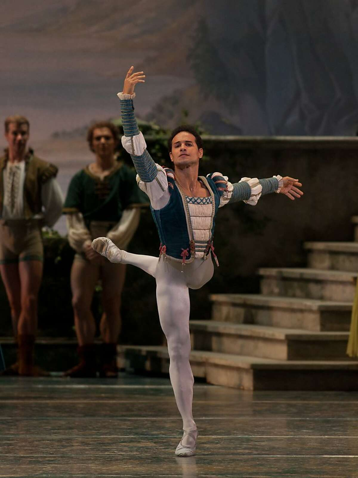 Ballet San Jose s new Artistic Director Jos Manuel Carre o as Prince Siegfried in Swan Lake, Act I. Photo: Rosalie O'Connor