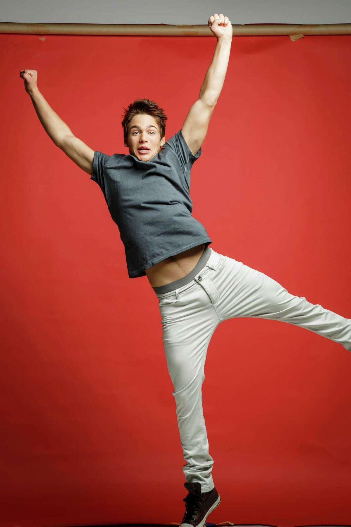 """Dylan Sprayberry, a young actor from Houston, poses for a photo in the Houston Chronicle Photo Studio, Friday, June 14, 2013, in Houston. Sprayberry who after six years of doing spots on various TV shows including Glee and iCarly, now appears on screen as the young Clark Kent in the new Superman film """"Man of Steel."""" ( Michael Paulsen / Houston Chronicle )"""
