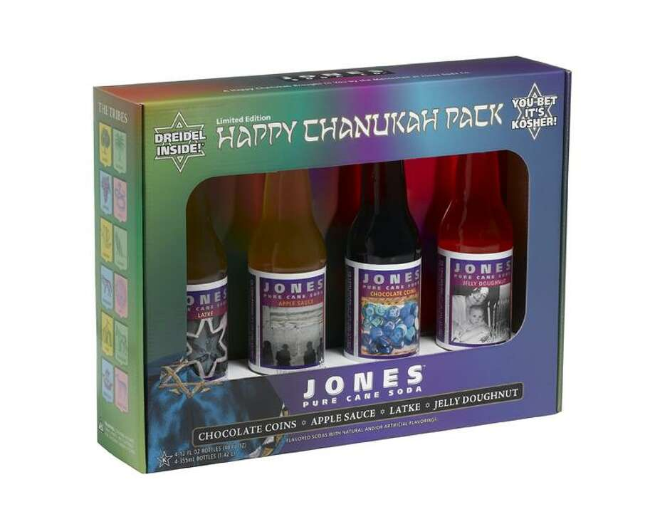 "Jones Soda Co. ""Happy Chanukah"" soda variety pack (U.S.)  What we assume it tastes like: Eight nights of trying to regift it."