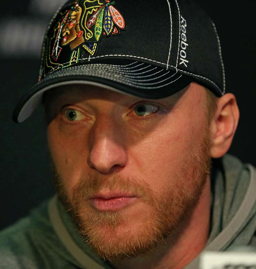 CHICAGO, IL - JUNE 11:  Marian Hossa #81 of the Chicago Blackhawks answers questions during the 2013 NHL Stanley Cup media day at the United Center on June 11, 2013 in Chicago, Illinois.  (Photo by Jonathan Daniel/Getty Images) Photo: Jonathan Daniel, Staff / 2013 Getty Images