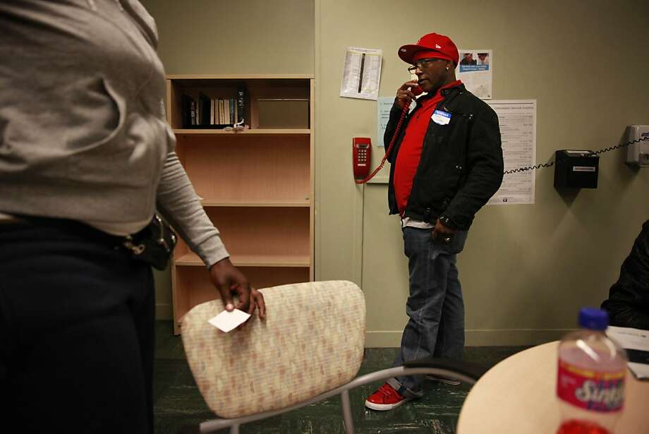 Dane Tyson, who has been in and out of the criminal justice system for 17 years, praises the San Francisco Probation Department's Community Assessment and Services Center as the first place he has been offered help. Photo: Lea Suzuki, The Chronicle