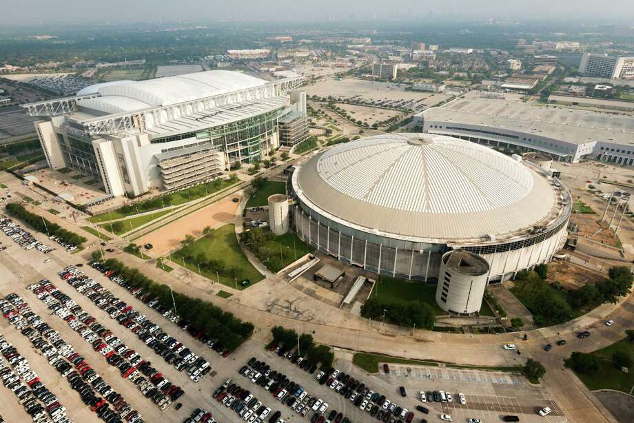 Reliant Stadium and the Reliant Astrodome are seen in an aerial view on Saturday, May 18, 2013, in Houston. Photo: Smiley N. Pool, Staff / © 2013  Houston Chronicle