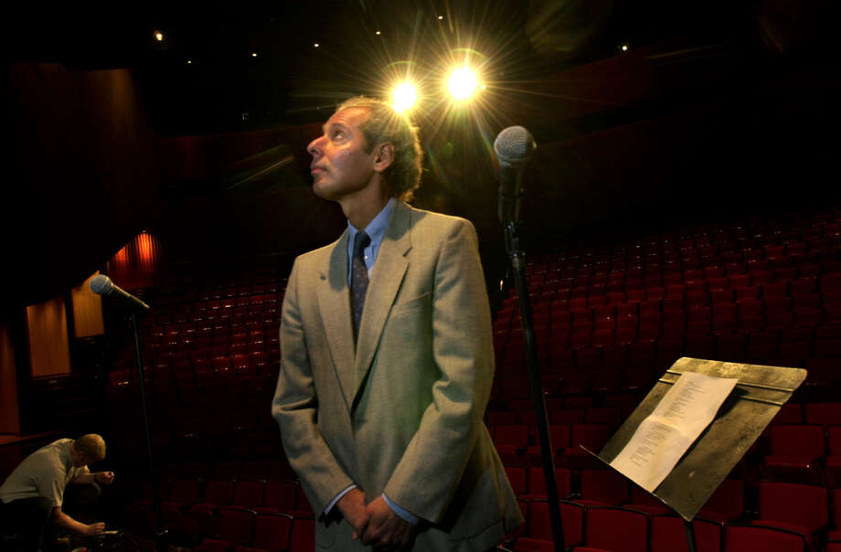 Times Union Staff Photo By Paul Buckowski --  Peter Lesser, the new director of The Egg, looks over the stage set up at the Kitty Carlisle Hart Theater, on Thursday, October 12, 2000, in Albany, NY. Photo: PAUL BUCKOWSKI / ALBANY TIMES UNION