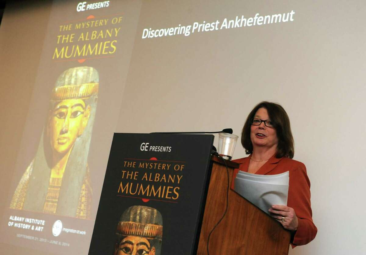 Tammis K. Groft interim director and chief curator of the Albany Institute for History and Art on Thursday March 21, 2013 in Saratoga Springs, N.Y. (Michael P. Farrell/Times Union)