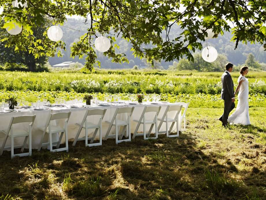 Myth No. 5:  Rustic Weddings are less expensive and more casual to plan.  Myth Debunked: Rustic weddings look effortless, but looks can be deceiving. Trucking rental items into a remote or rustic location can be a logistical ordeal - those beautifully-crafted wood farm tables are heavy and bulky to transport. Plus your caterer will have to build kitchens from scratch on site, lighting will be needed to help guests navigate woodland trails or even ground, etc.