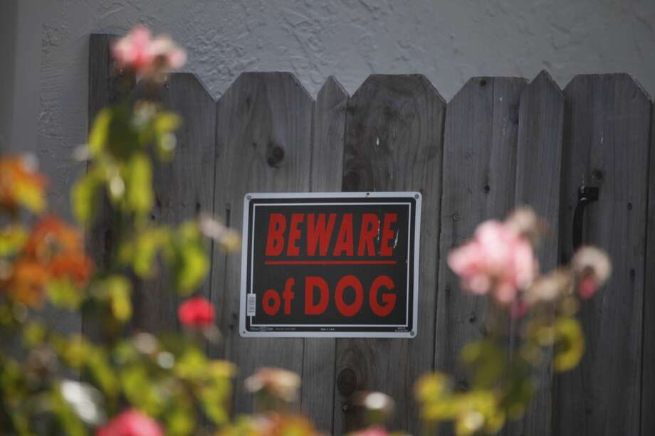 A sign on a fence at the home where Nephi Selu  was mauled on Monday by a relative's dog warns people to Beware of Dog on Tuesday, June 18, 2013 in Union City, Calif.