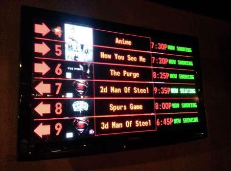 The Spurs game is on display between Superman movies at Westlake Alamo Drafthouse. Photo: David G. Palacio / San Antonio Express-News