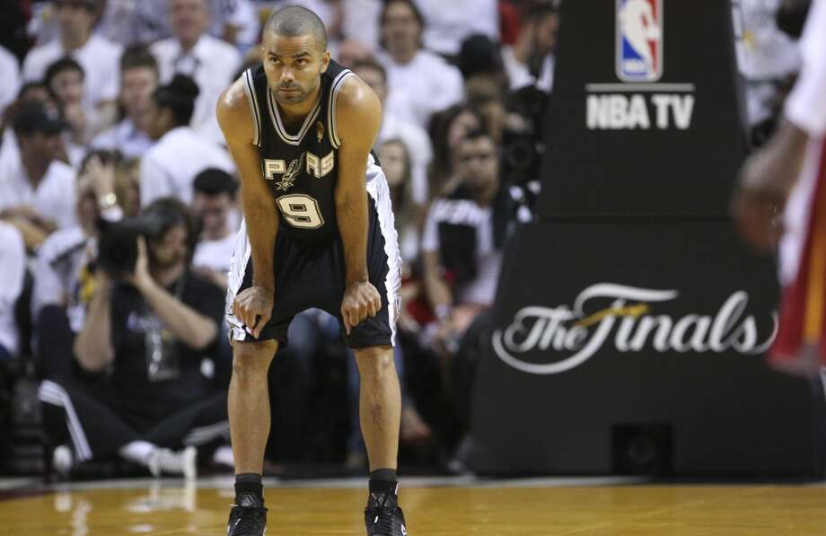 San Antonio Spurs' Tony Parker is seen during first half action in Game 6 of the 2013 NBA Finals Tuesday, June 18, 2013 at American Airlines Arena in Miami. (Edward A. Ornelas/San Antonio Express-News)