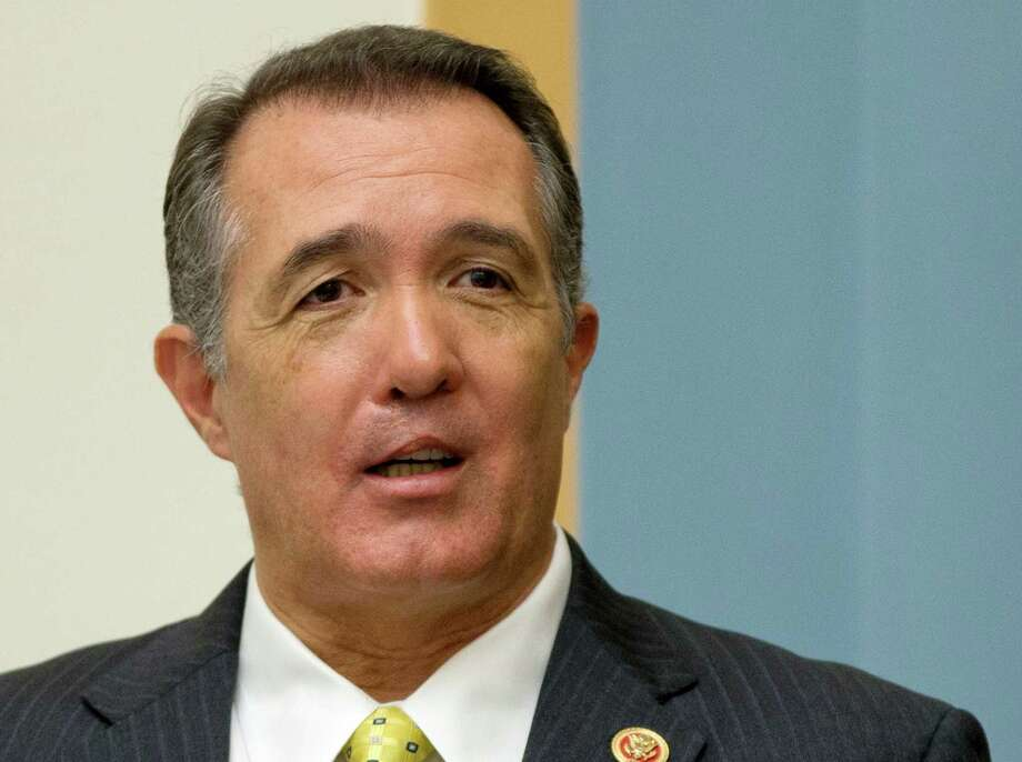Rep. Trent Franks, R-Ariz., arrives on Capitol Hill in Washington, Tuesday, June 18, 2013, at House Judiciary Committee hearing to discuss the Strengthen and Fortify Enforcement Act.  Republicans in the House of Representatives on Tuesday make their most concerted effort of the year to change U.S. abortion law with legislation that would ban almost all abortions after a fetus reaches the age of 20 weeks. (AP Photo/Carolyn Kaster) Photo: Carolyn Kaster