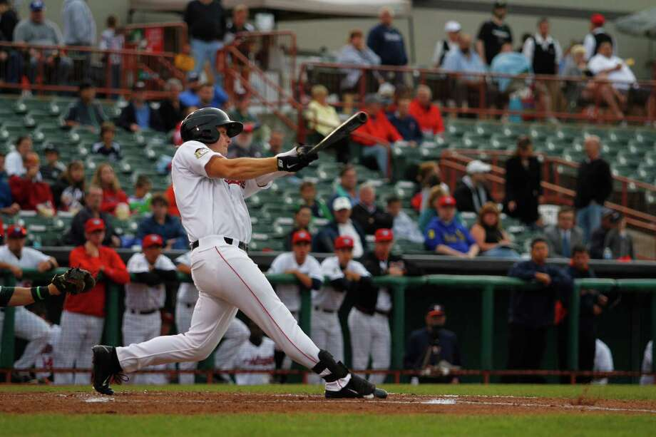 Tri-City ValleyCats batter Jon Kemmer swings at a pitch during the second game against the Vermont Lake Monsters at Joe bruno Stadium, Tuesday, June 18, 2013 in Troy, N.Y. (Dan Little/Special to the Times Union) Photo: Dan Little / 10022830A