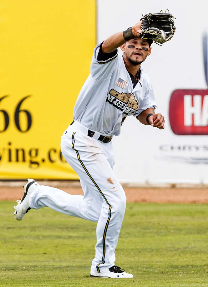 """After what he called a """"horrible"""" season in 2012, Reymond Fuentes has bounced back with a strong first half this year. He was selected for the Texas League All-Star Game but will miss it with a hamstring injury. Photo: Marvin Pfeiffer / San Antonio Express-News"""