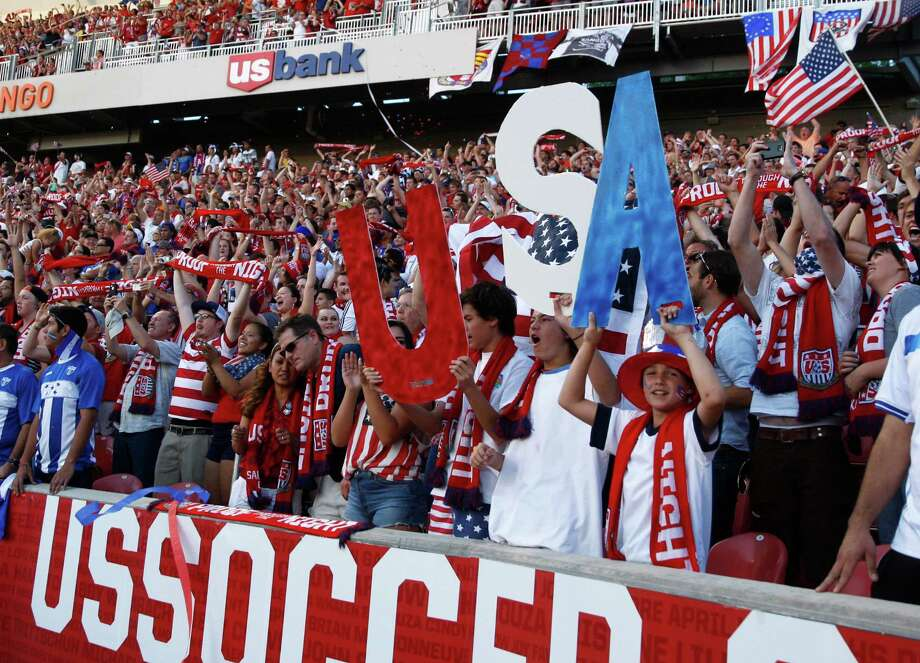 SANDY, UT - JUNE 18: Fans of the United States cheer after a goal against Honduras during the second half of a World Cup qualifying match on June 18, 2013 at Rio Tinto Stadium in Sandy, Utah. Photo: George Frey, Getty Images / 2013 Getty Images