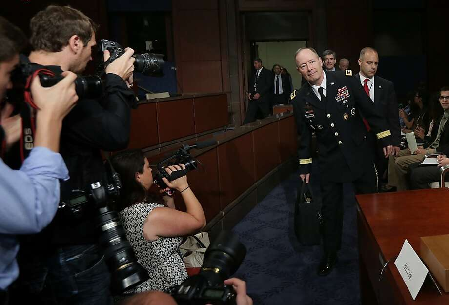 Gen. Keith Alexander, National Security Agency director, arrives to testify before the House Intelligence Committee. Photo: Win McNamee, Getty Images