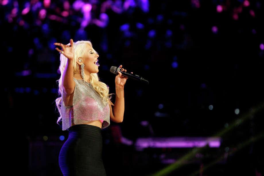 "THE VOICE -- Episode 419B ""Live Finale"" -- Pictured: Christina Aguilera -- Photo: NBC, Trae Patton/NBC / 2013 NBCUniversal Media, LLC"