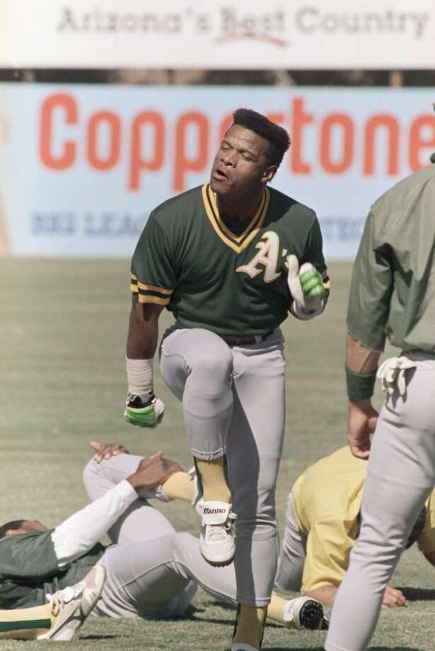 1. Rickey Henderson — Rickey is very pleased that Rickey was your No. 1 pick.
