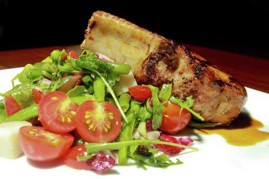2013)Grilled Maple Pork Chop with new potato green bean & tomato salad ...