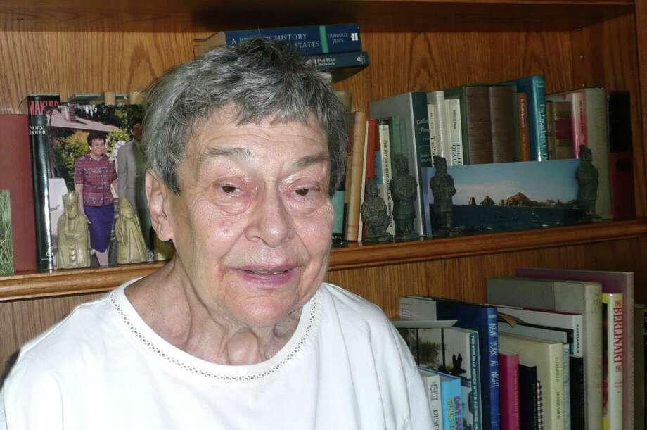 Myra Shubin, 80, speaks to Seniority. Photo: Anne W. Semmes