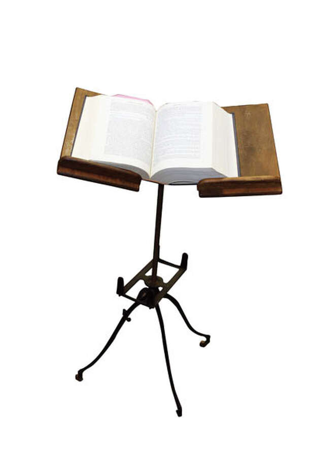 Antique Book Stand Want to showcase that heavy old dictionary? This 1890s piece by Geo J. Flanagan is a good way to do it. Available from Creative Old Geezer. $295.