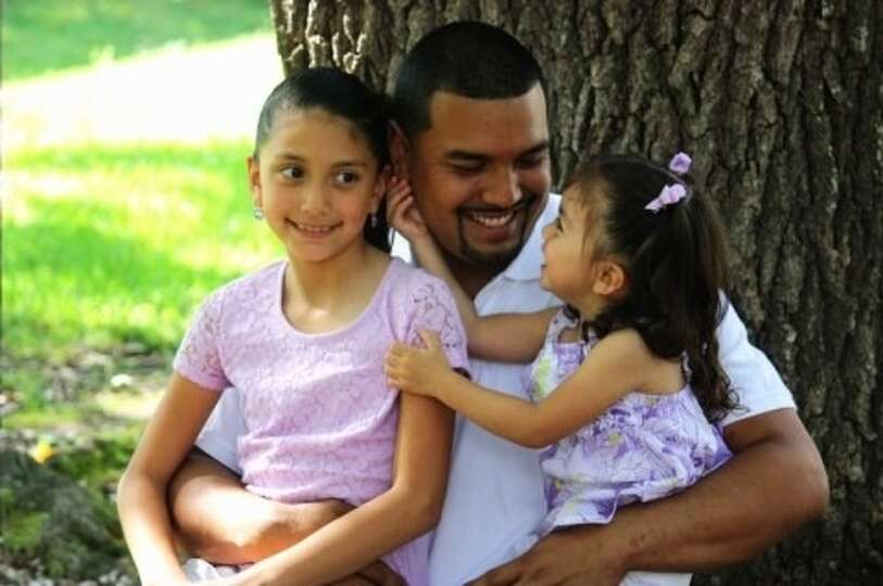 My husband Juan is the best father you could ever ask for! Anything our girls need he is there for t