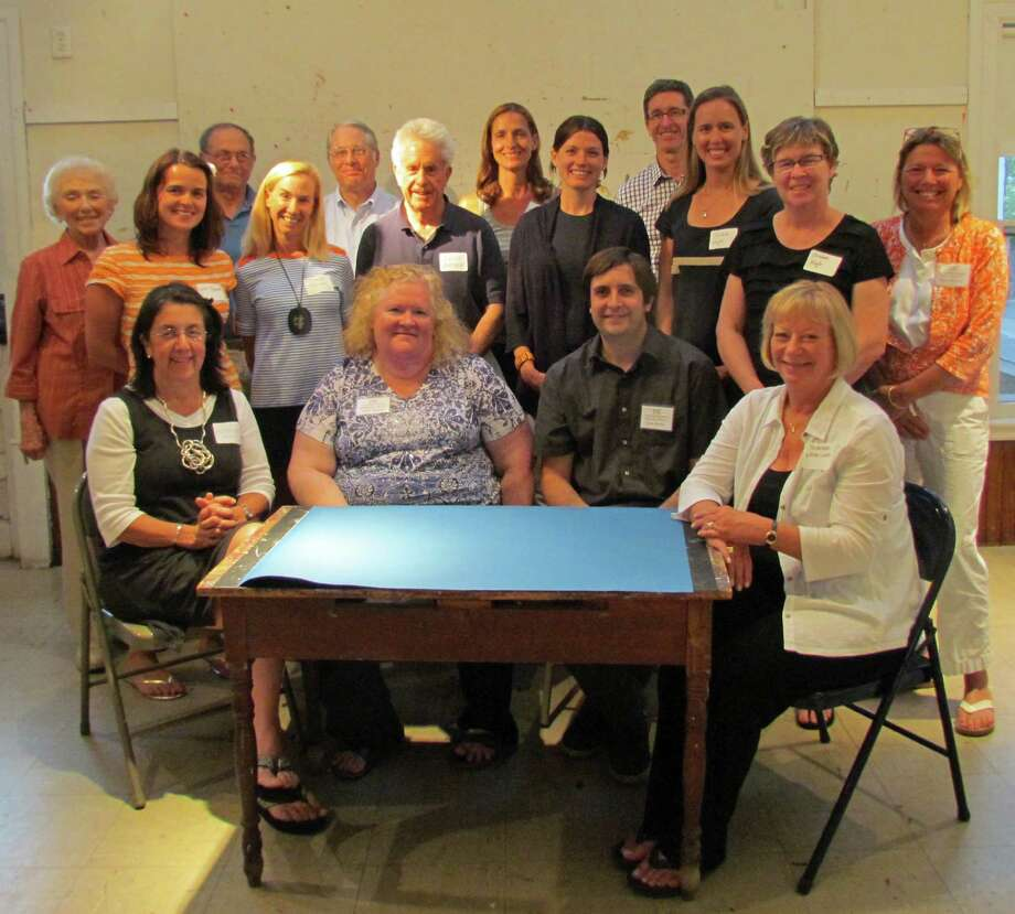 Rowayton Arts Center's new officers are (seated from left): Ana Mernick, treasurer; Barbara Seith, president; Bruce Horan, vice president; Kathy Leeds, secretary. Board members (standing from left) are Jeannine Soper, Lisa Dunne, Robert Sachs, Stephanie Jordan, Joel Flora, David Siever, Andrea Letters, Suzie Jellineck, Paul Wolters, Christine Naylor, Elizabeth Nagle and Amy Schott. Not present: Merion Frolich and Catharine Horan. PHOTO --------------------------------- Photo: Contributed Photo / Norwalk Citizen