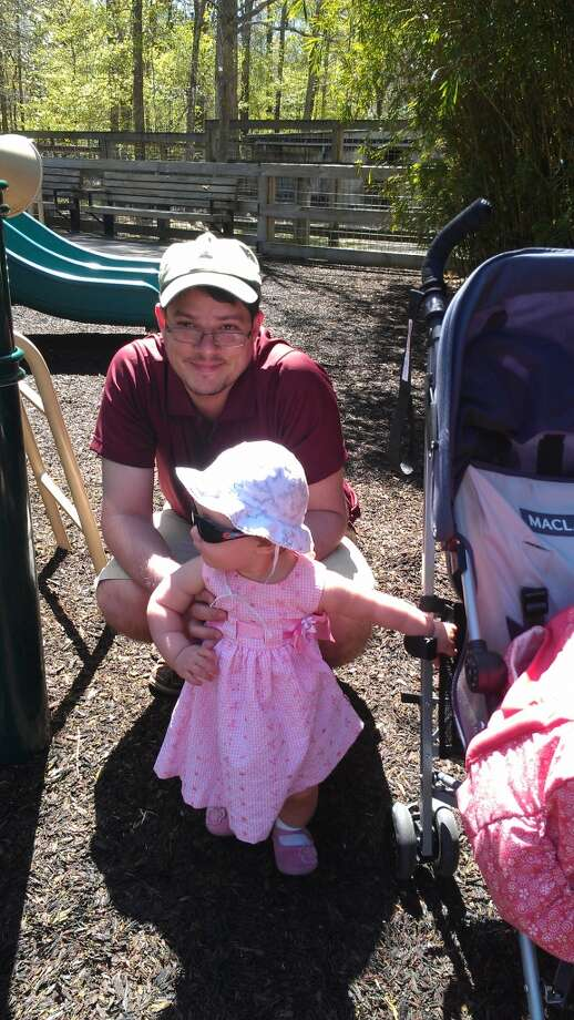 Baby girl and daddy on a fashion visit of the zoo!