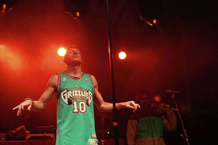 That'd be a Vancouver Grizzlies jersey. You know, the team that left for Memphis 12 years ago. (Photo by Jason G. Bahr/WireImage) Photo: Jason G. Bahr, Getty Images / 2013 Jason G. Bahr