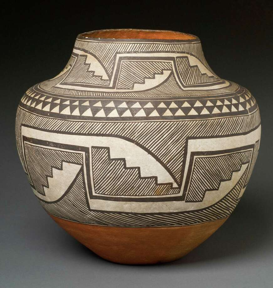Acoma Pueblo, a fine line jar, is one of more than three dozen examples of Native American pottery that will be on exhibit at Fairfield Univeriversity's Bellarmine Museum from June 27 to Oct. 3. Photo: Contributed Photo / Fairfield Citizen