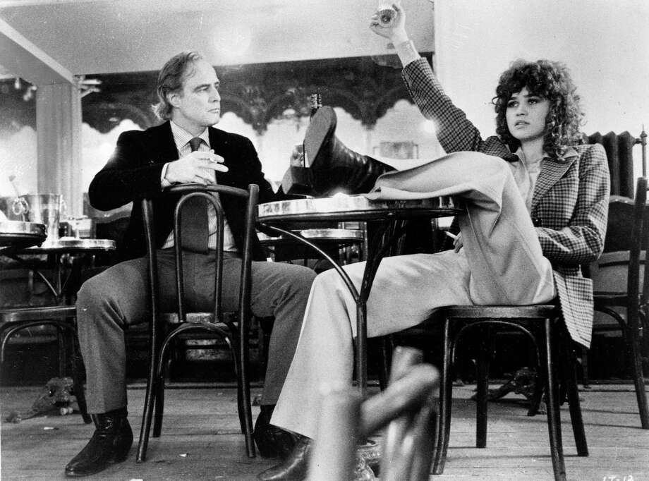 "Actors Marlon Brando and Maria Schneider in ""Last Tango in Paris,"" 1972.  A second look at this film, all these years later, is not flattering to it. Photo: ASSOCIATED PRESS / AP1972"