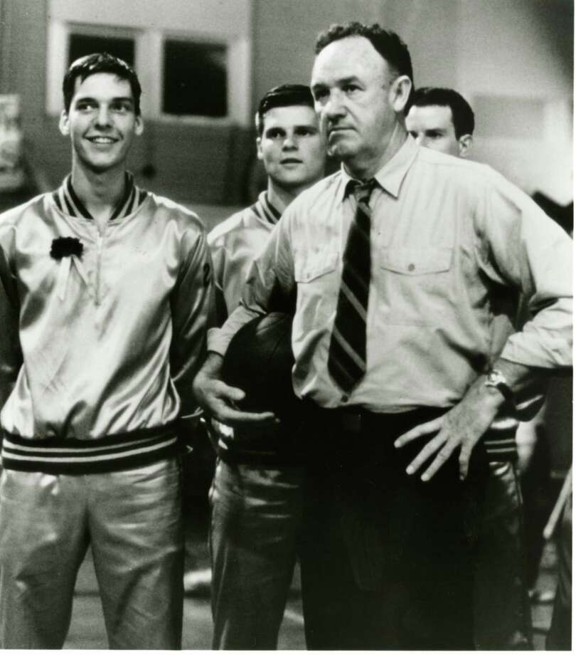 "Gene Hackman in ""Hoosiers"": Suggested by Gershwin Idiot. Photo: Orion Pictures 1986 / chron"