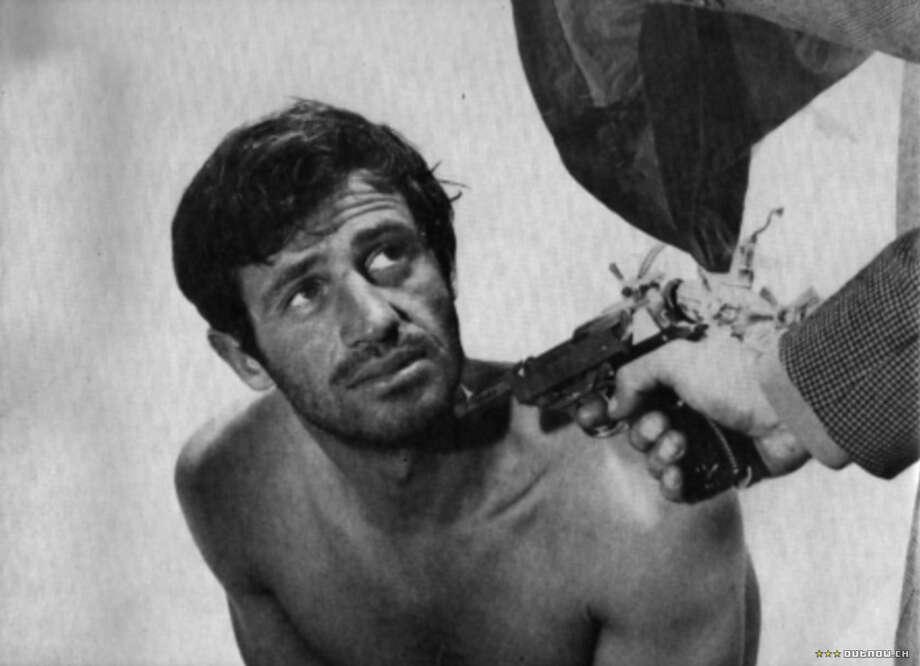Jean-Paul Belmondo in PIERROT LE FOU by Godard.