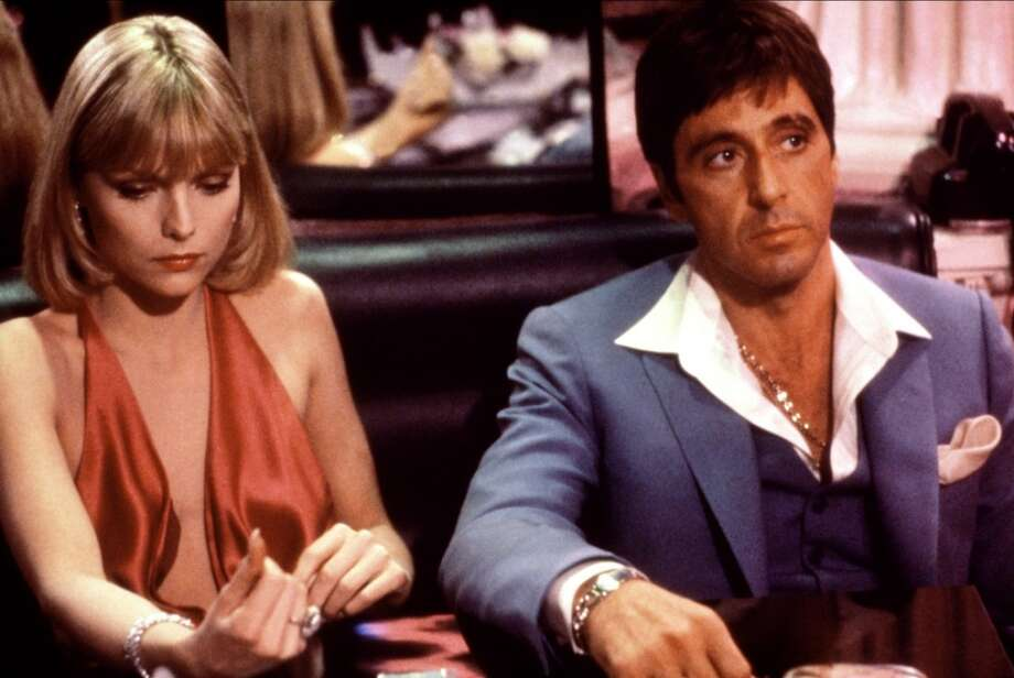 "Michelle Pfeiffer and Al Pacino in ""Scarface.""  One of my favorite films of the 1980s -- but chosen by Gershwin Idiot. Photo: Universal Pictures 1983"