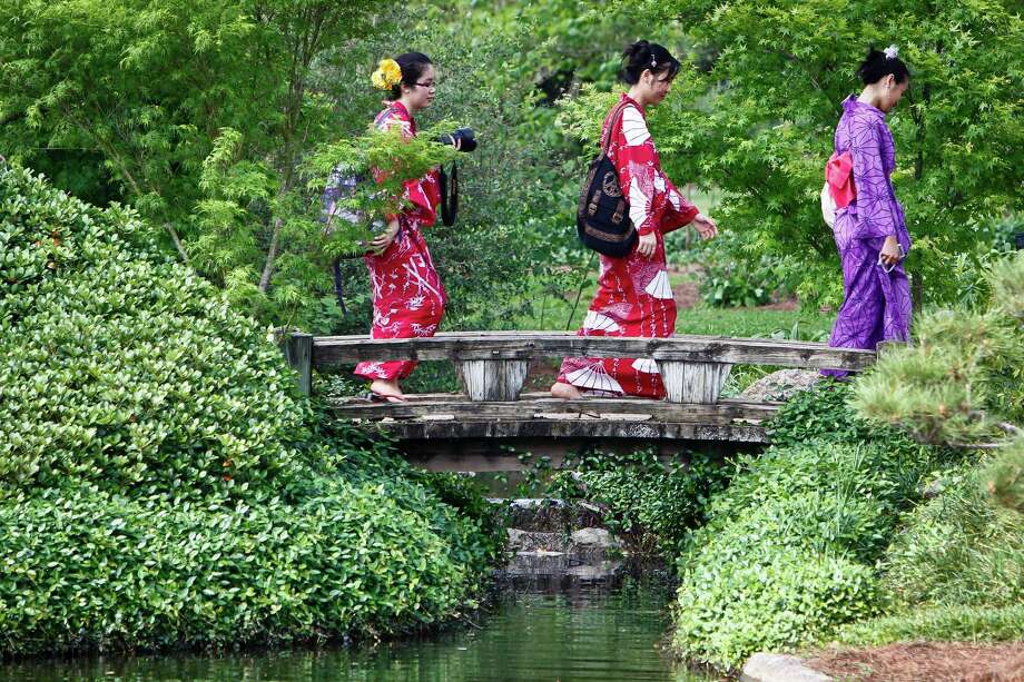 Recreate Hermann Park's Japanese Garden in your backyard. Photo: Michael Paulsen, Chronicle / Houston Chronicle