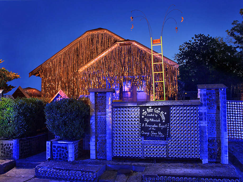 Spend the night at the beer can house. / handout