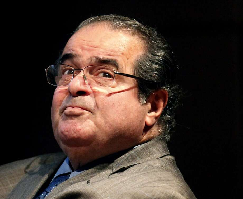 "Supreme Court Justice Antonin Scalia is promoting his book ""Reading Law."" Photo: Charles Rex Arbogast, Associated Press"